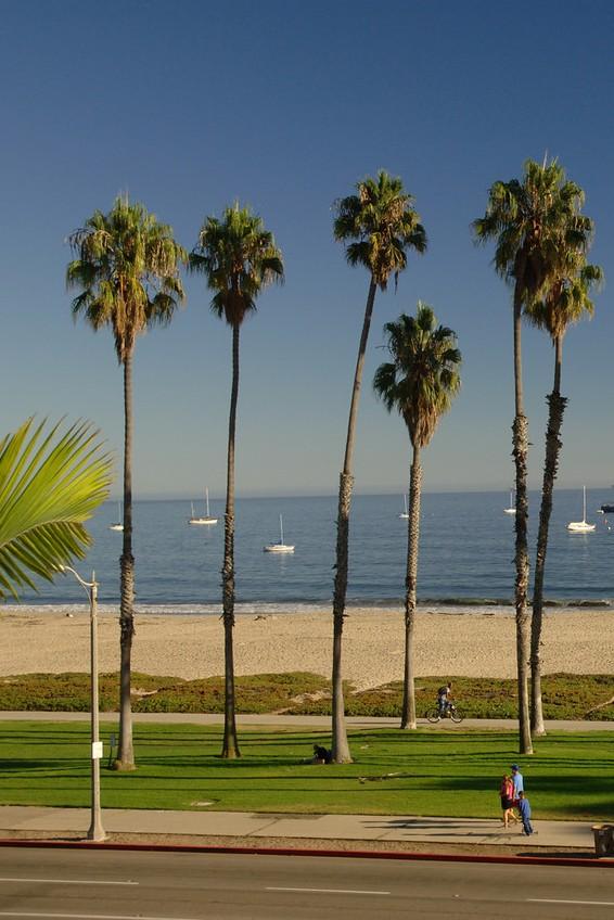 Cabrillo Blvd. Bike Path in Santa Barbara, CA